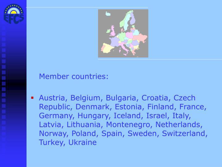 Member countries: