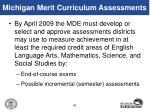 michigan merit curriculum assessments
