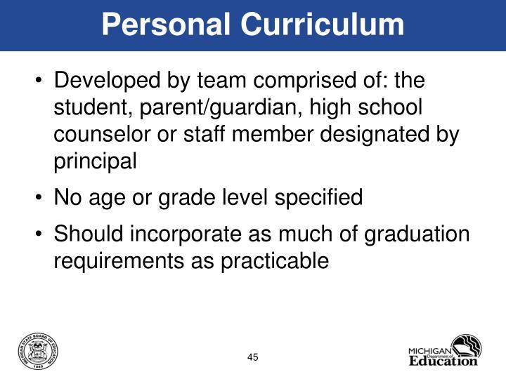 Personal Curriculum