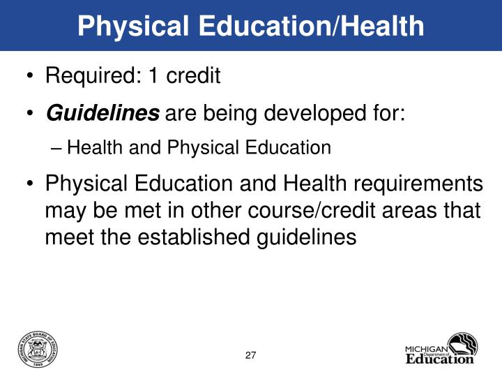 Physical Education/Health