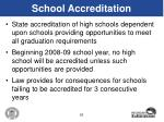 school accreditation