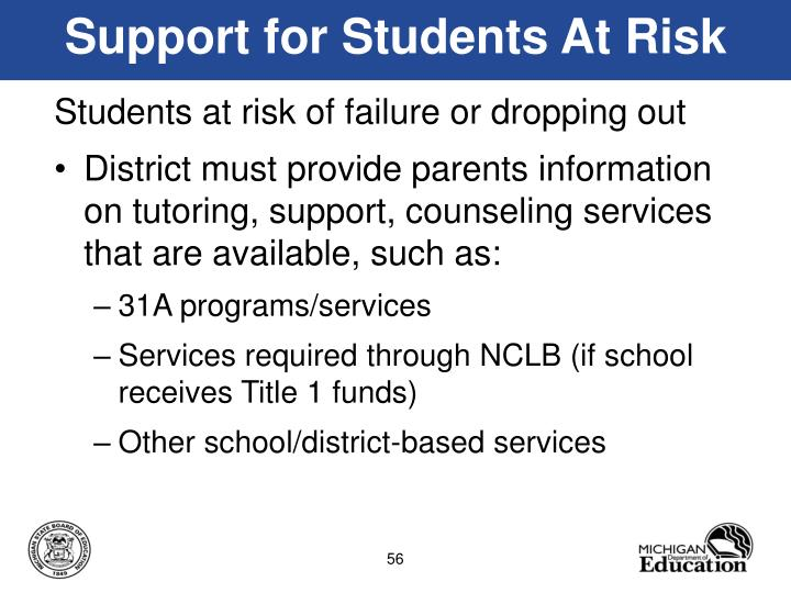 Support for Students At Risk
