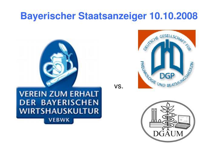 Bayerischer Staatsanzeiger 10.10.2008
