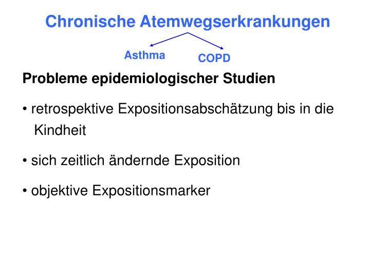 Chronische Atemwegserkrankungen