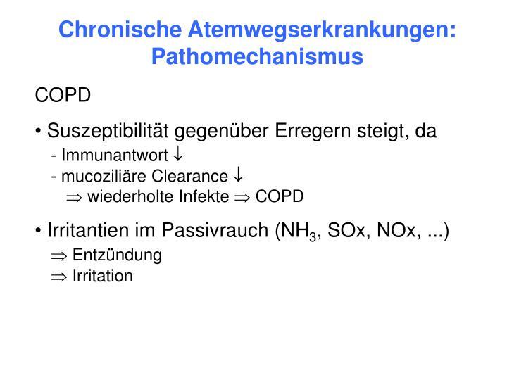 Chronische Atemwegserkrankungen: