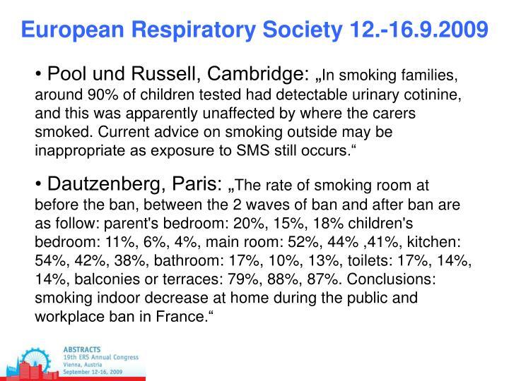 European Respiratory Society 12.-16.9.2009