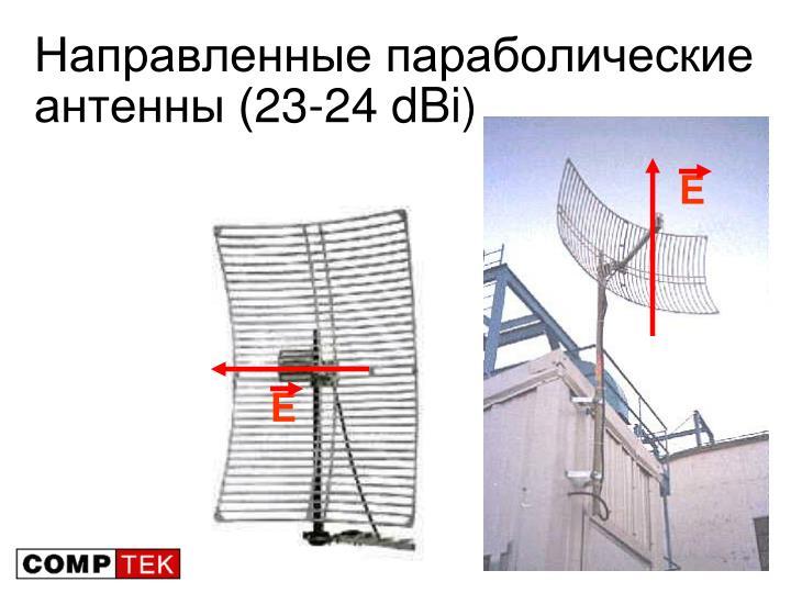 Направленные параболические антенны (23-24 dBi)