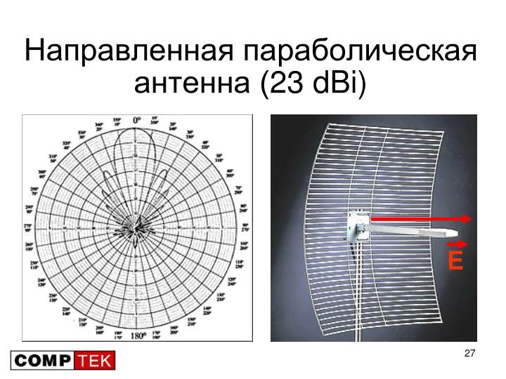 Направленная параболическая антенна (23 dBi)