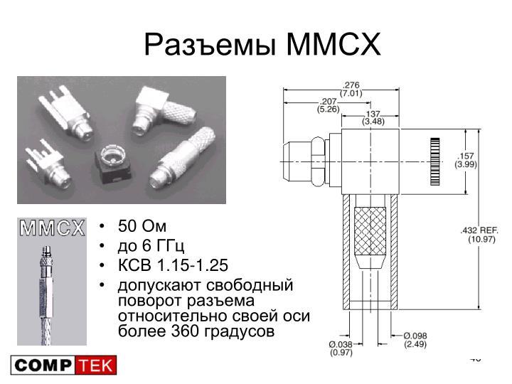 Разъемы MMCX