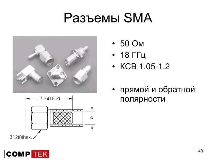 Разъемы SMA