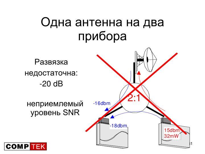 Одна антенна на два прибора