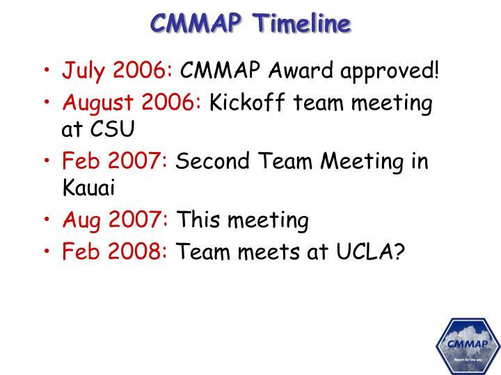 CMMAP Timeline