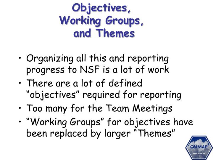 Objectives,