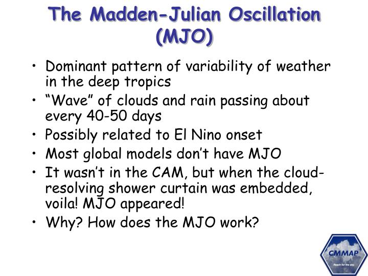 The Madden-Julian Oscillation (MJO)