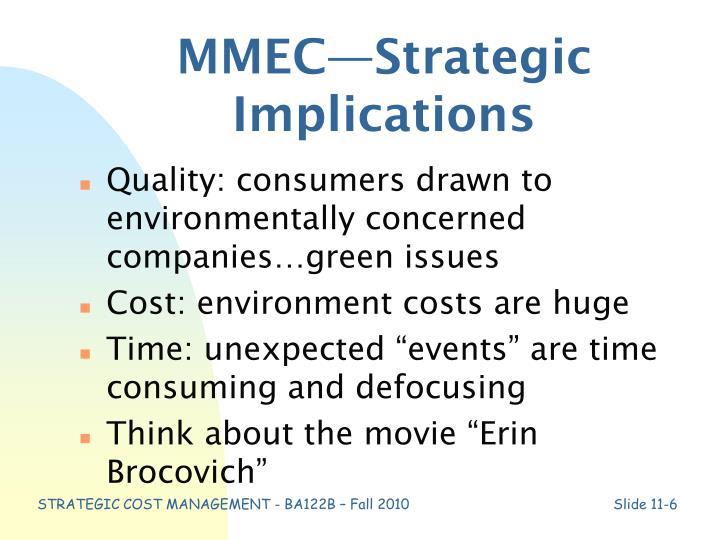 MMEC—Strategic Implications