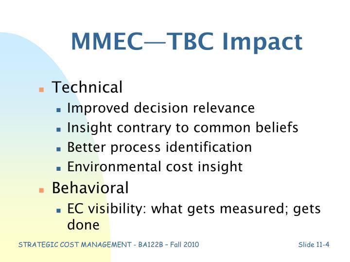 MMEC—TBC Impact
