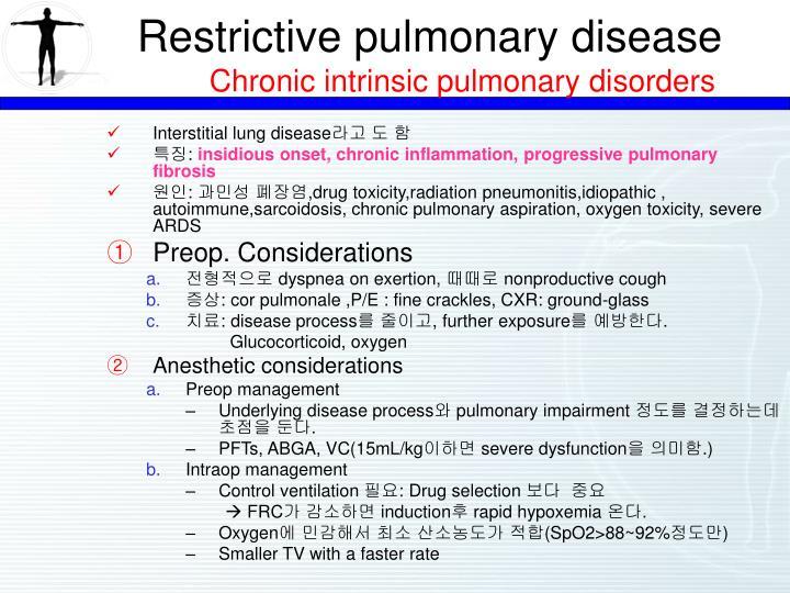 Restrictive pulmonary disease