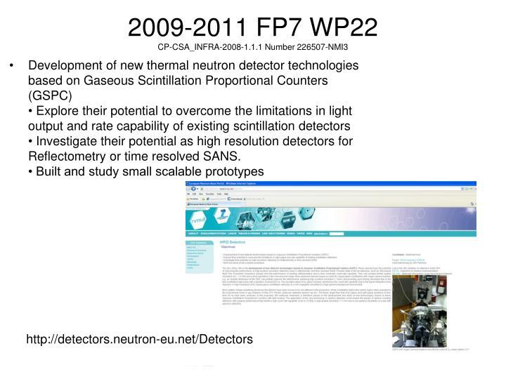 2009-2011 FP7 WP22