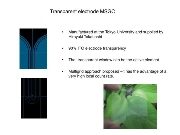 Transparent electrode MSGC