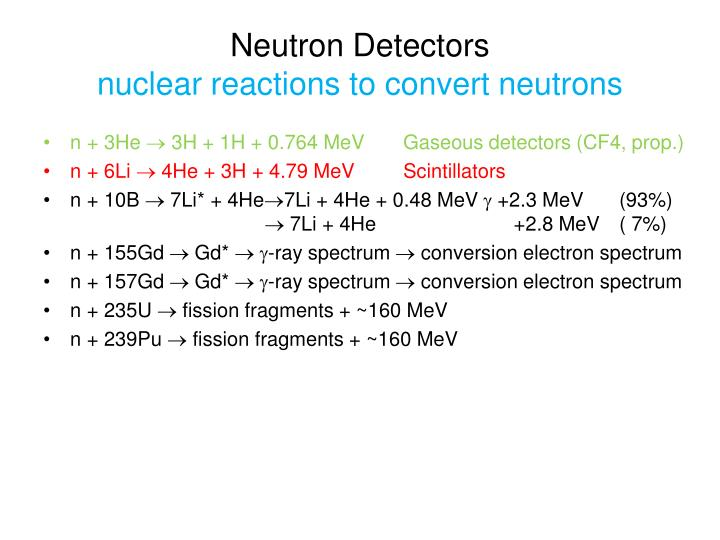 Neutron Detectors