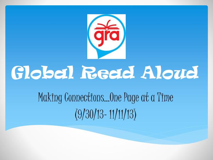 Global read aloud