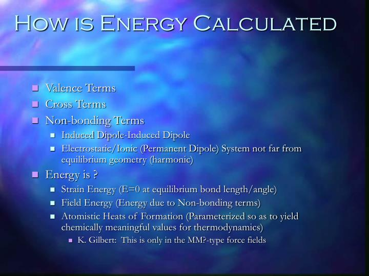 How is Energy Calculated