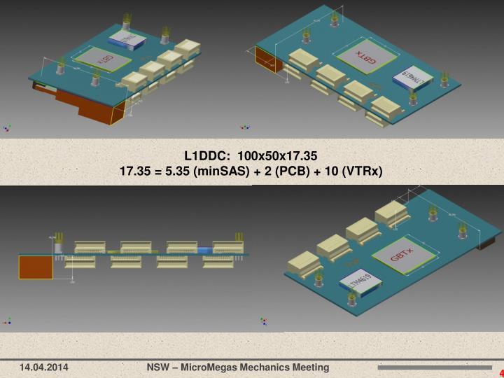L1DDC:  100x50x17.35