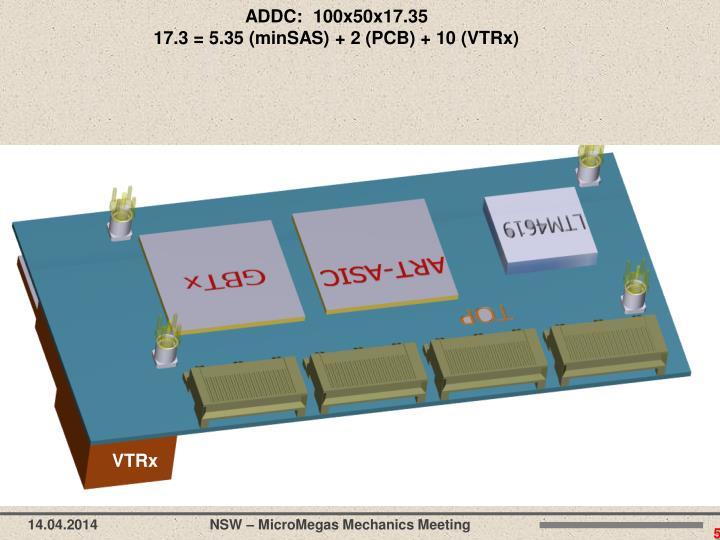 ADDC:  100x50x17.35