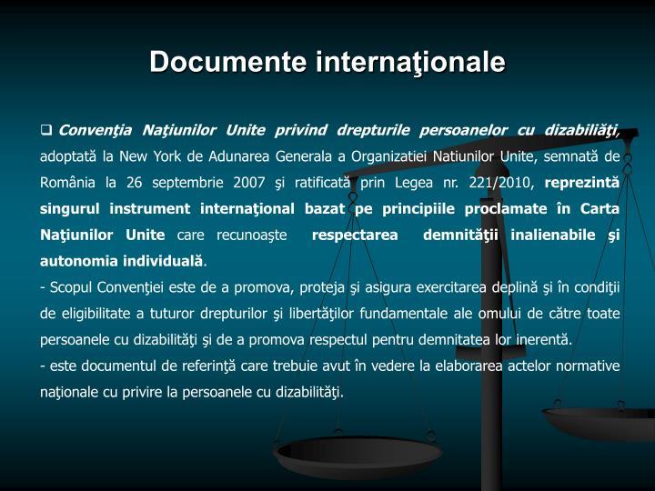 Documente internaţionale
