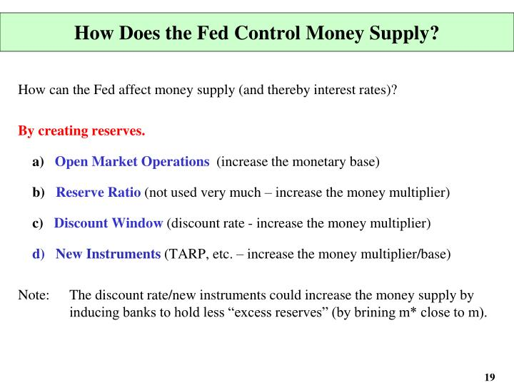 how does a stimulus program through the money multiplier affect the money supply