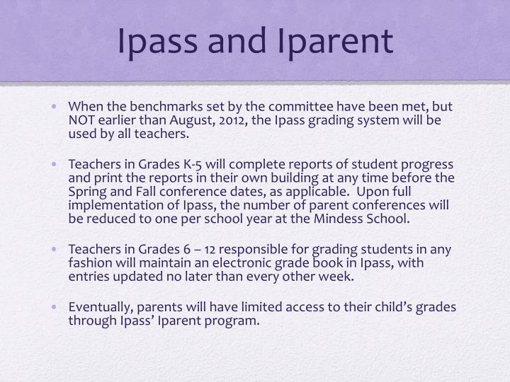 Ipass and Iparent