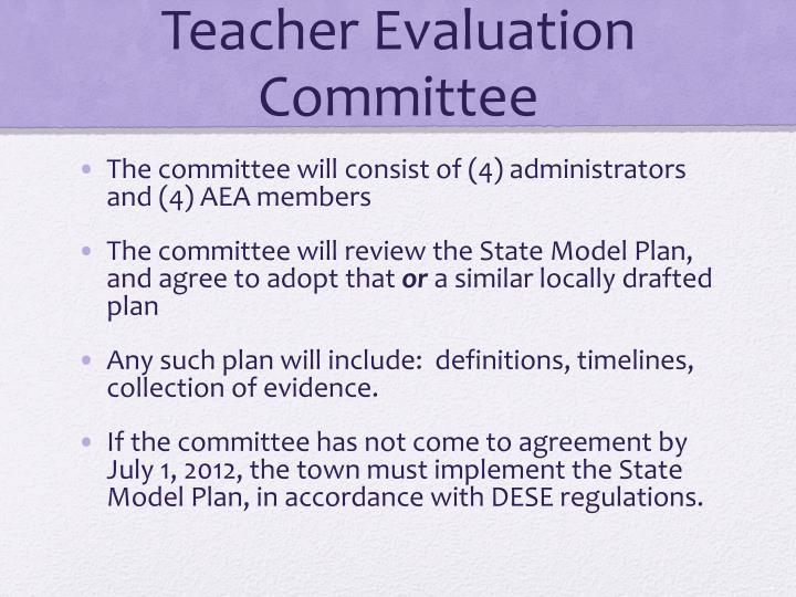 Teacher Evaluation Committee