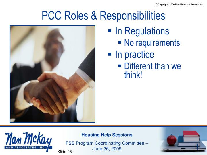 PCC Roles & Responsibilities