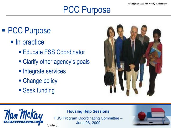 PCC Purpose