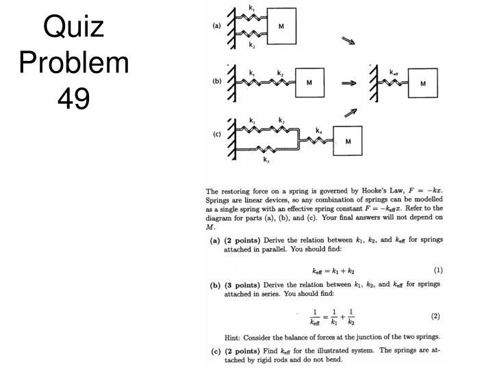 Quiz Problem 49