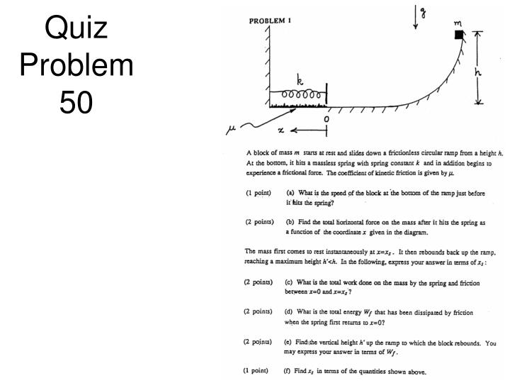 Quiz Problem 50
