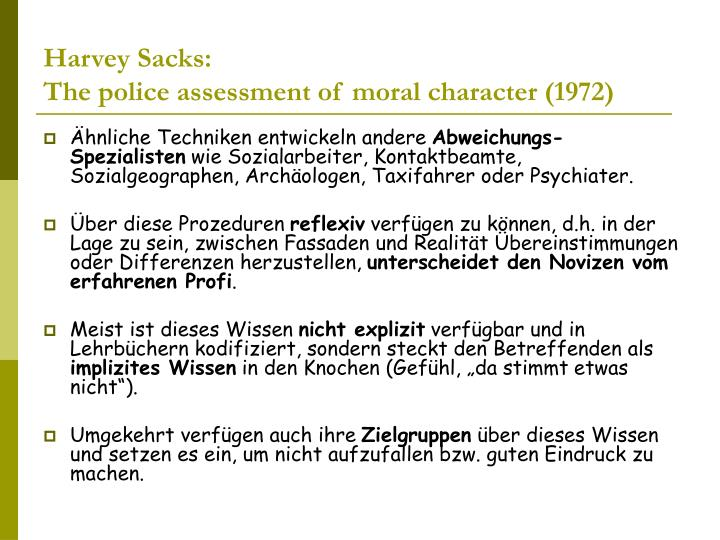 Harvey Sacks: