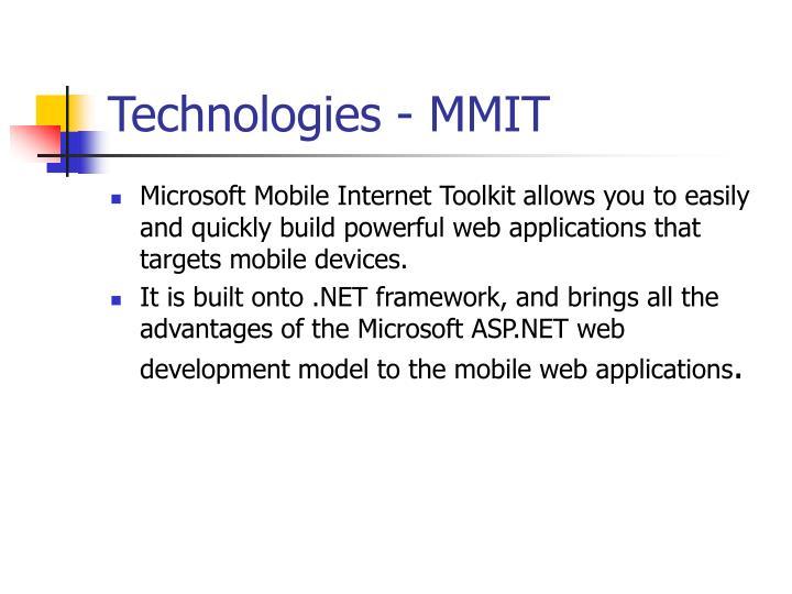 Technologies - MMIT