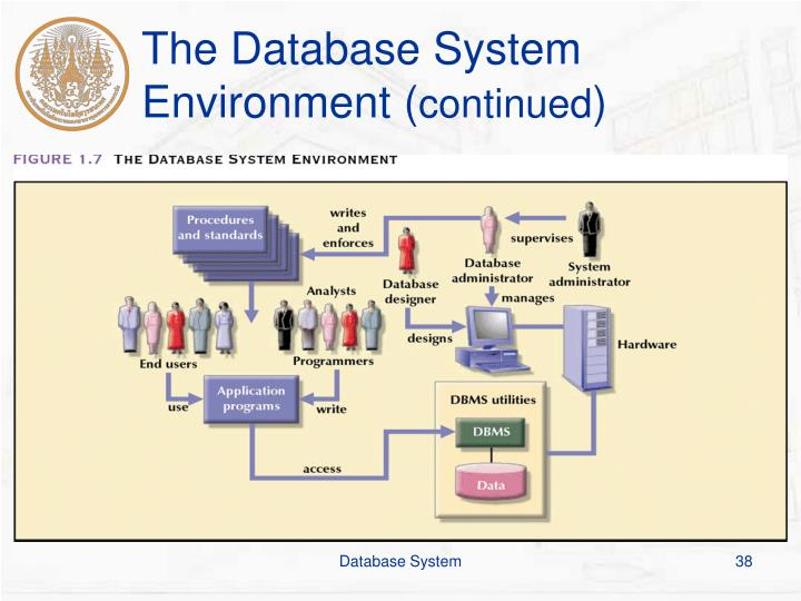 The Database System Environment (