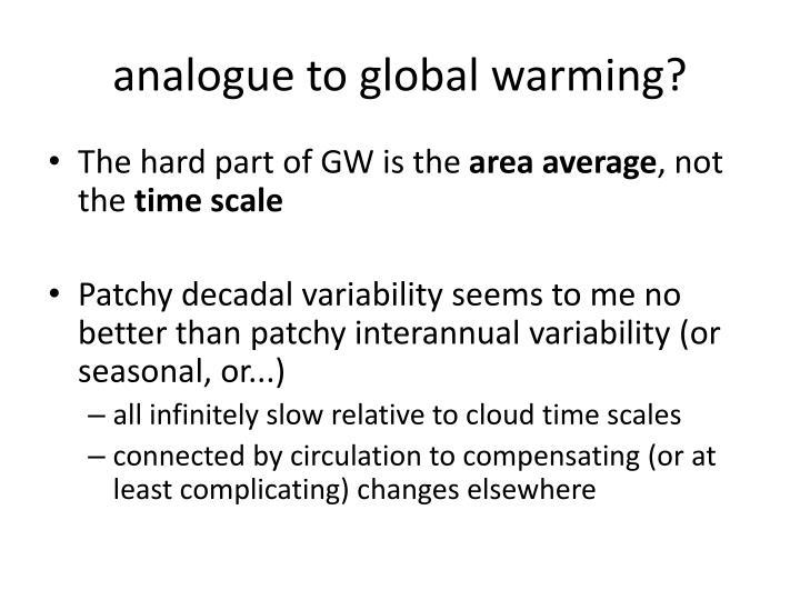 analogue to global warming?
