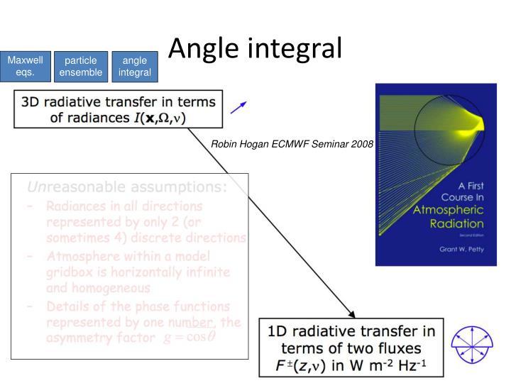 Angle integral