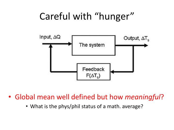 "Careful with ""hunger"""