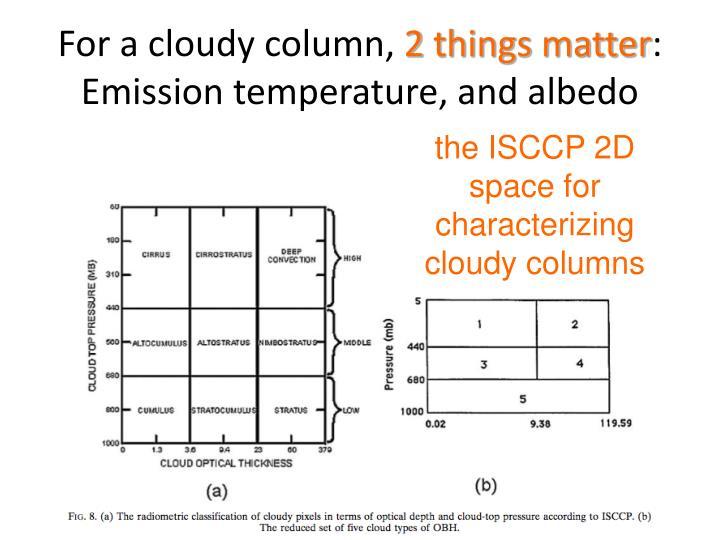 For a cloudy column,