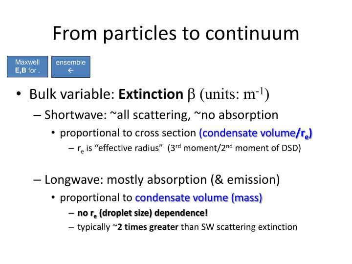 From particles to continuum