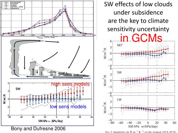 SW effects of low clouds under subsidence