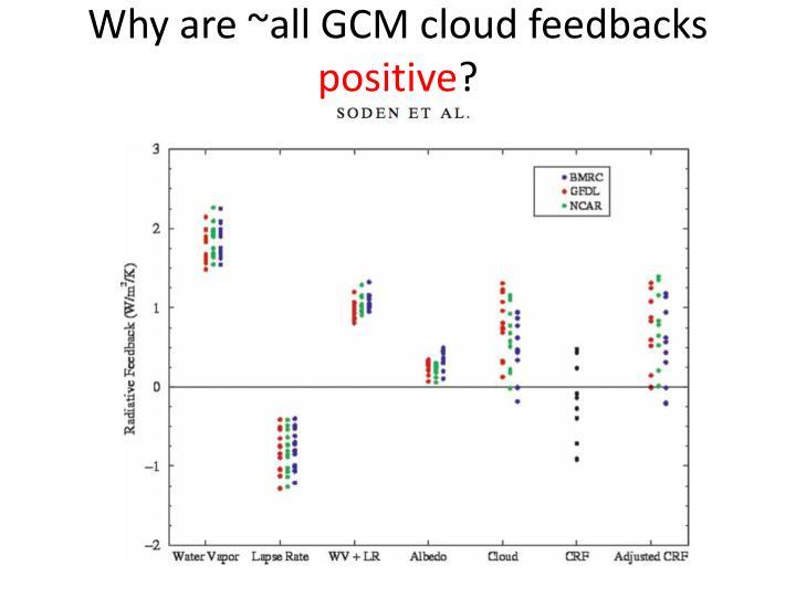 Why are ~all GCM cloud feedbacks