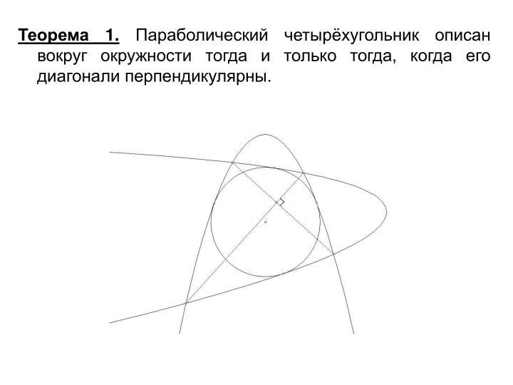Теорема 1.