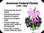 american federal period 1780 1820