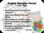 english georgian period 1714 1760