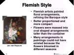 flemish style